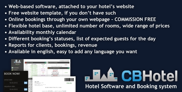 CodeCanyon Hotel Software and Booking system 4563726