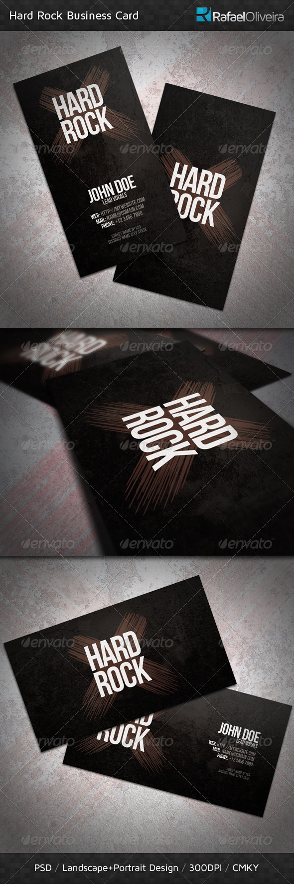 GraphicRiver Hard Rock Business Card 482610