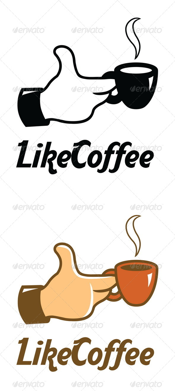GraphicRiver Like Coffee Logo Template 4616674
