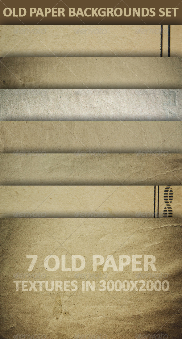 Old Paper Backgrounds Set - Miscellaneous Backgrounds