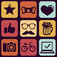 Hipster Icons and Signs - GraphicRiver Item for Sale