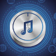 Music Concept with Metal Button and Icons  - GraphicRiver Item for Sale