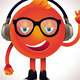 Funny Monster with Headphones and Glasses - GraphicRiver Item for Sale