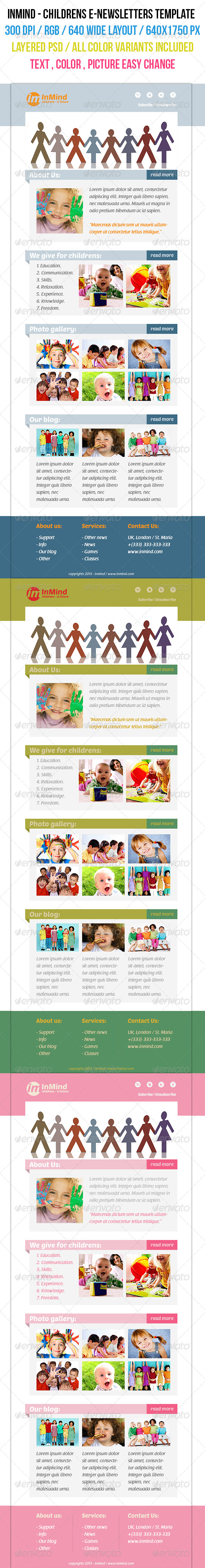 GraphicRiver InMind Children s E-newsletters template 4616865