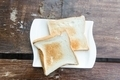 Two toast on a white plate - PhotoDune Item for Sale