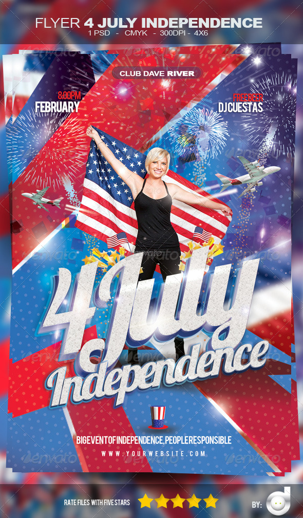 GraphicRiver Flyer Independence Day Template 4617618