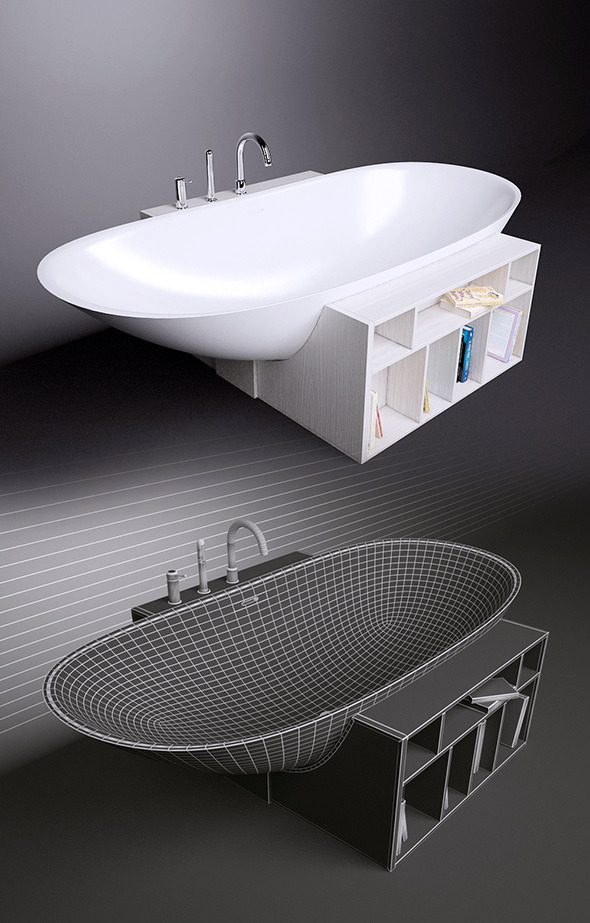 Bath Rexa Design Unico and Gessi Goccia 33637 - 3DOcean Item for Sale