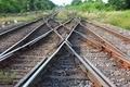 Railway, Bangsue railway in Thailand.