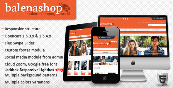 Balenashop – HTML 5 Open Cart Theme
