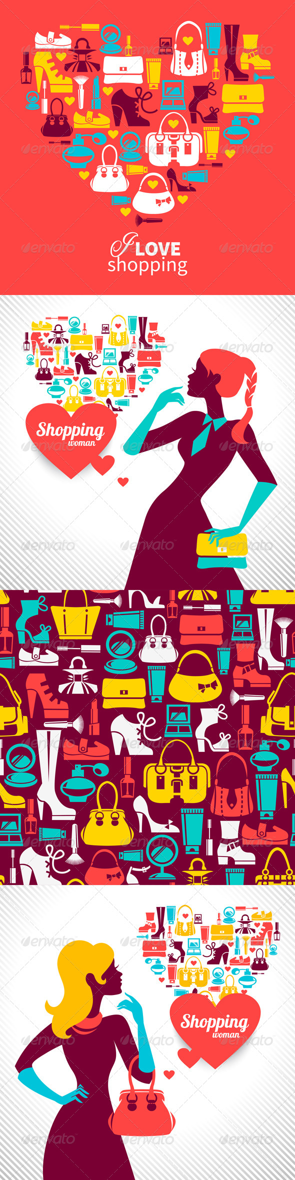 GraphicRiver Set of Shopping Illustrations 4618486