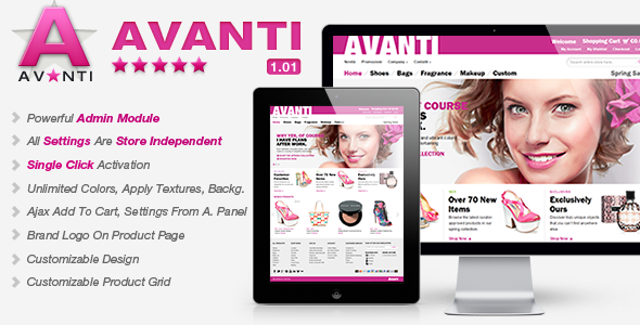 ThemeForest Avanti Premium Magento Theme 4579796