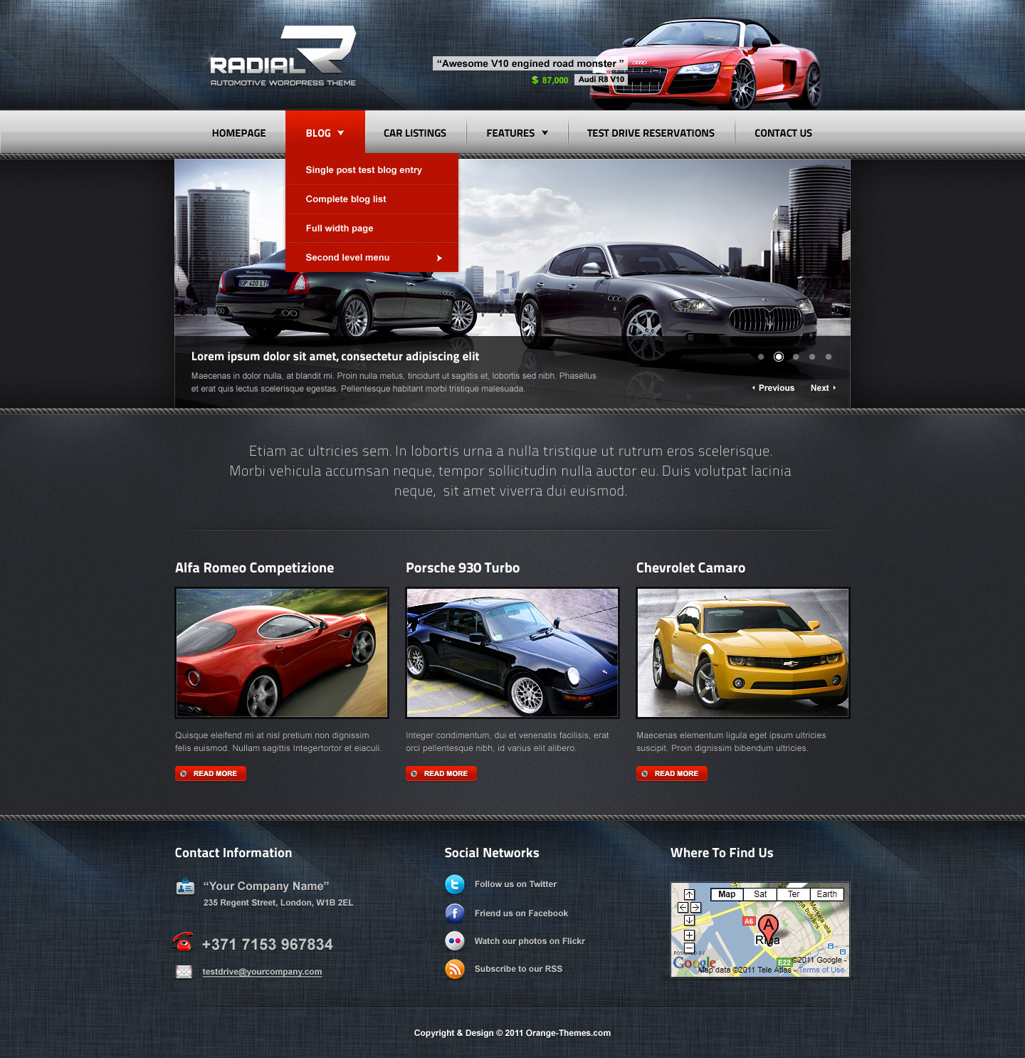Radial - Premium Automotive & Tech WordPress Theme