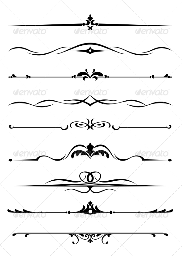 GraphicRiver Borders and Monograms 4618990