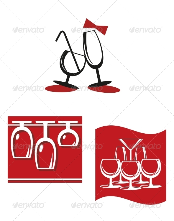 GraphicRiver Alcohol Glasses for Bar Menu Design 4619048