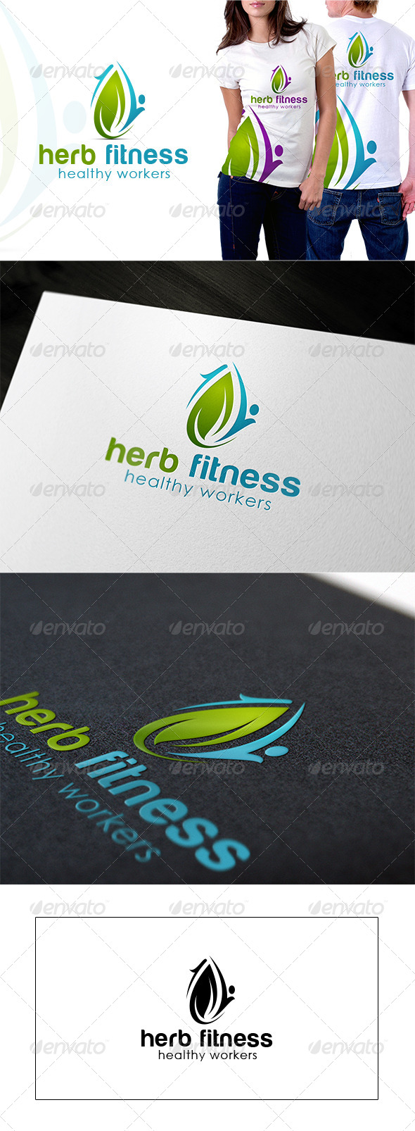 Herb fitness Logo  - Nature Logo Templates