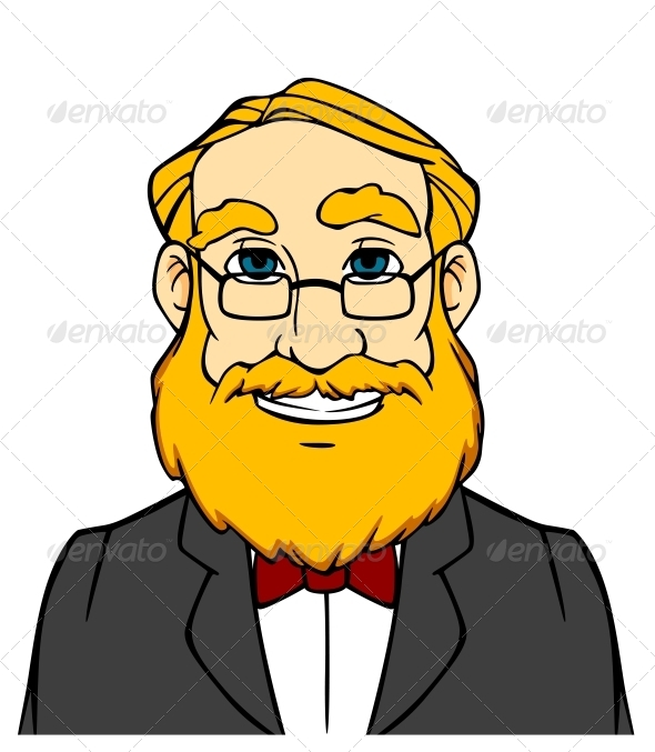 GraphicRiver Smiling Man with Orange Beard 4619254