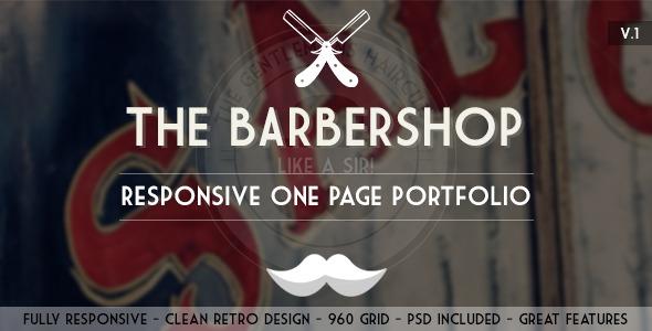 The Barbershop - Responsive Portfolio