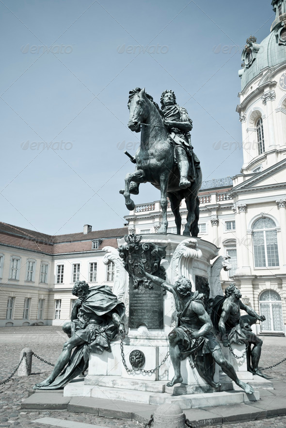 Statue Friedrich Wilhelm I in Berlin - Stock Photo - Images