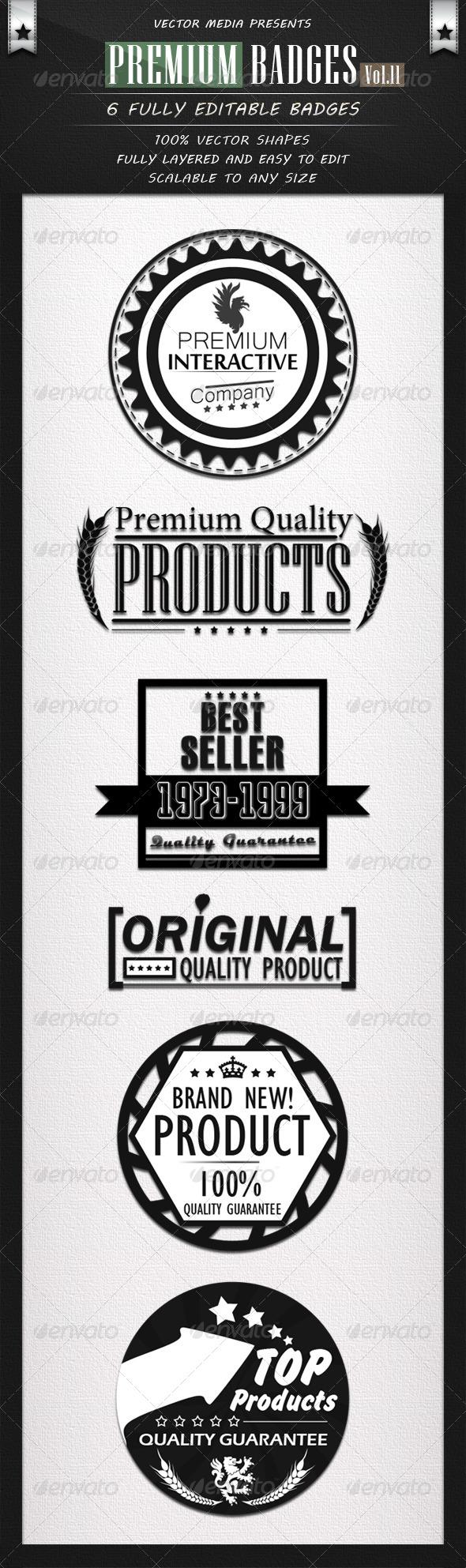 Premium Badges - Vol.11 - Badges & Stickers Web Elements