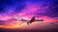 Private jet in a spectacular sunset sky - PhotoDune Item for Sale