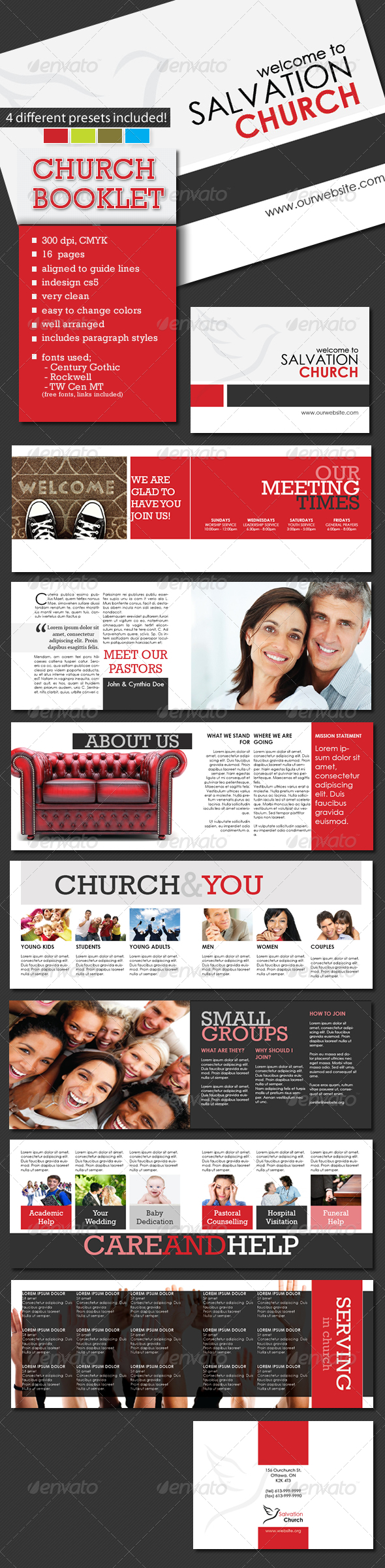 GraphicRiver A5 Church Booklet Template 16 Pages 4530029