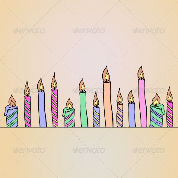 GraphicRiver Birthday Candles Card 4450069
