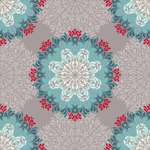 GraphicRiver Seamless Pattern with Abstract Elements 4600022