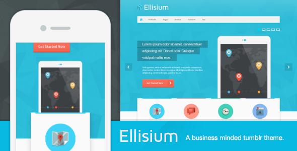 ThemeForest Ellisium A Business Minded Tumblr Theme 4620479