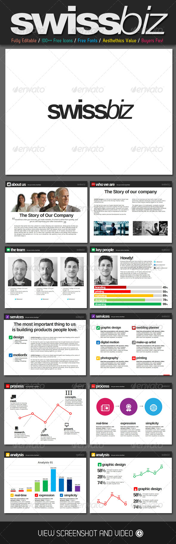 GraphicRiver SwissBiz PowerPoint Template 4620564