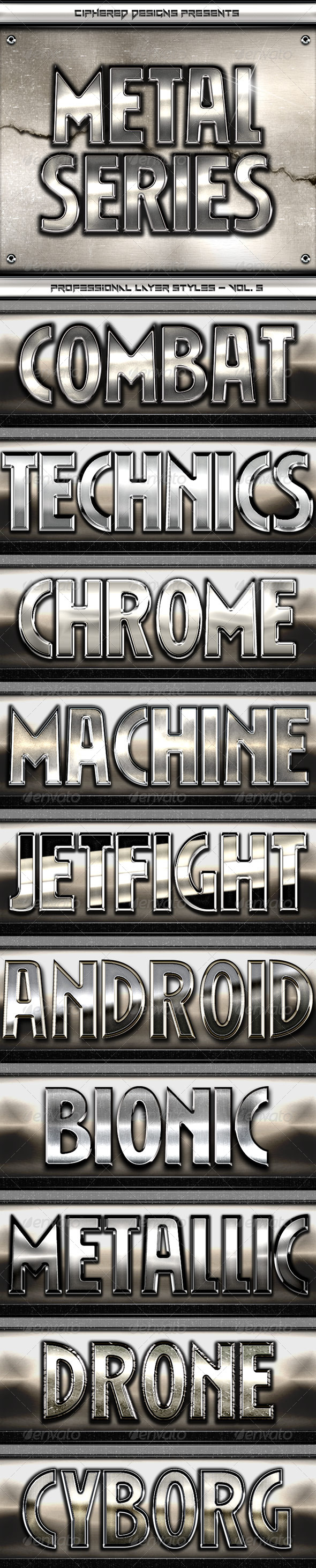 GraphicRiver Metal Series V Professional Layer Styles 4620574
