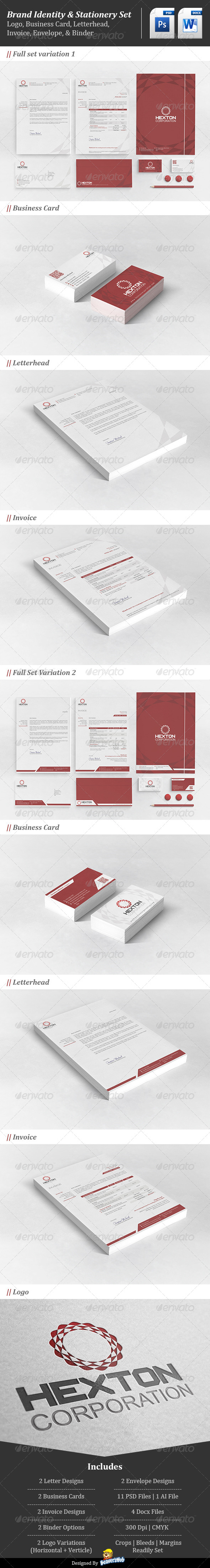 GraphicRiver Corporate Brand Identity Hexton Corporation 4620579
