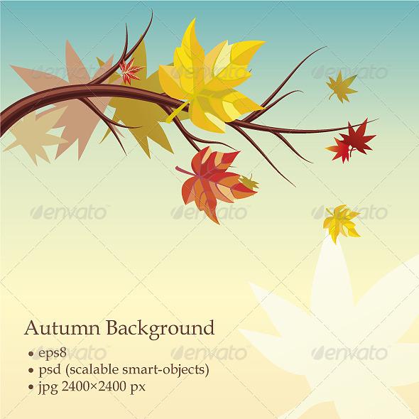 GraphicRiver Autumn Background 4620590
