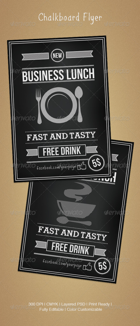 GraphicRiver Chalkboard Flyer 4620638