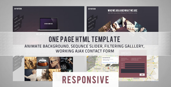 ThemeForest Skygo One Page HTML Template 4592803
