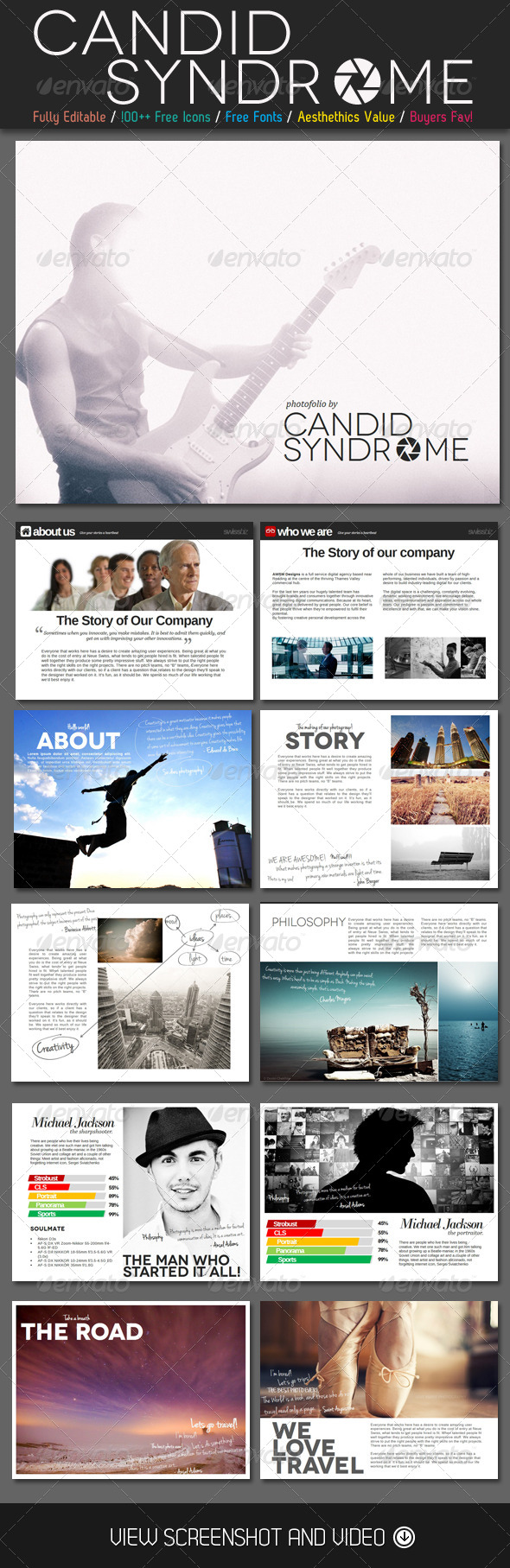 GraphicRiver Candid Syndrome Portfolio PowerPoint Template 4620782