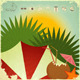 Summer Beach Card in Retro Style - GraphicRiver Item for Sale