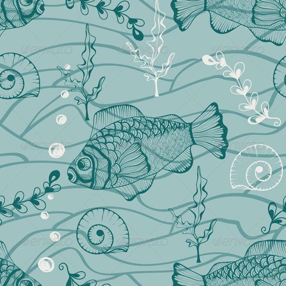 GraphicRiver Vector Seamless Underwater Pattern 4621200