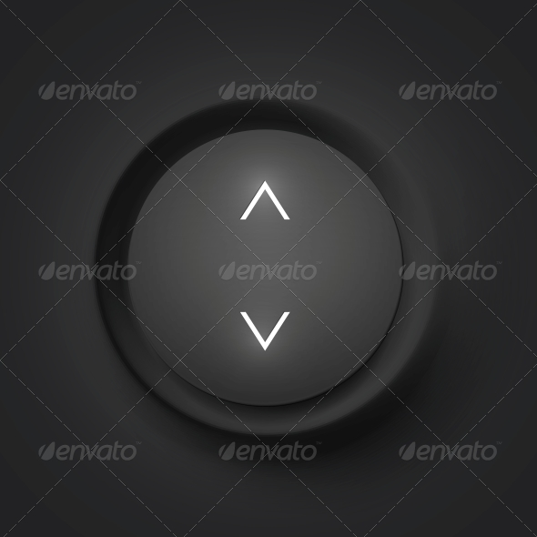 GraphicRiver Black Vector Button with Arrows 4621398