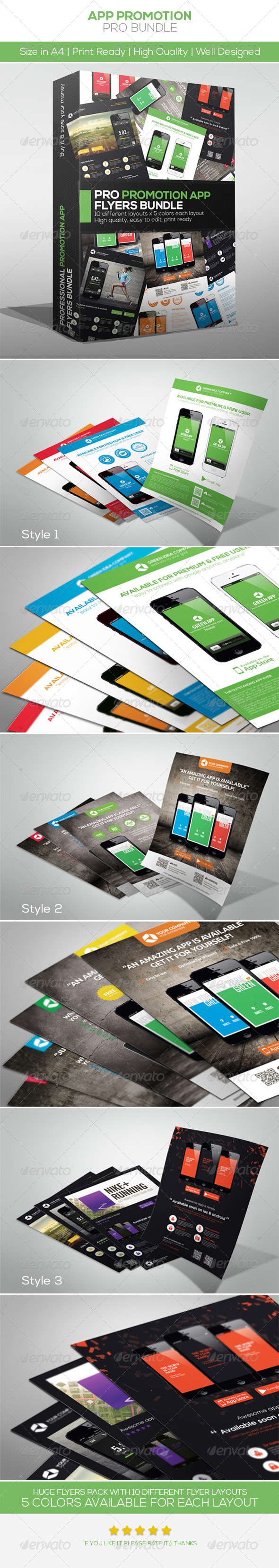 GraphicRiver App Promotion Flyers Bundle 4621613