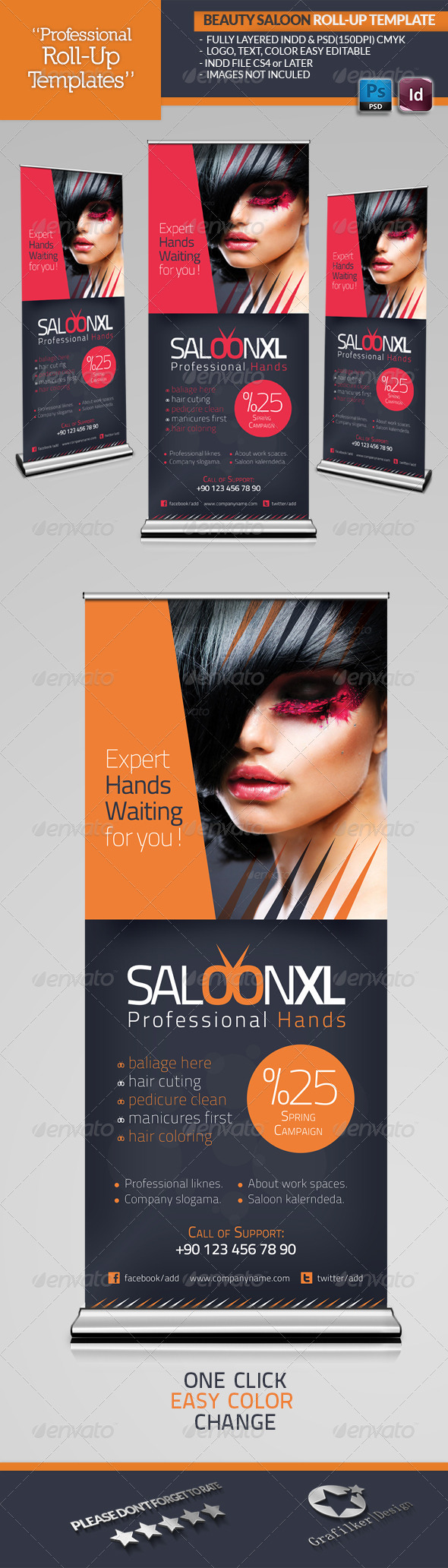 GraphicRiver Beauty Saloon Roll-Up Template 4553391