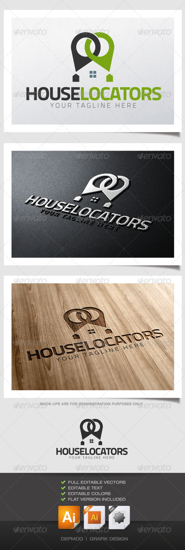 GraphicRiver House Locators Logo 4621864