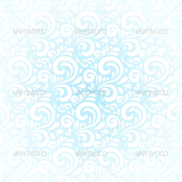 GraphicRiver Blue Winter Curls Vector Abstract Background 4621891