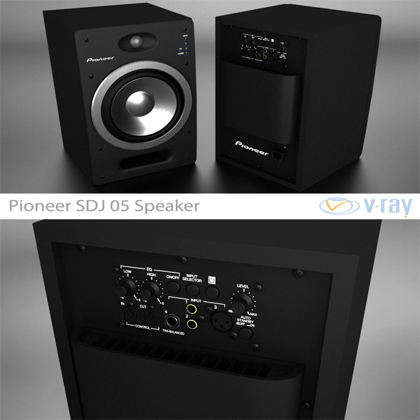 Pioneer S-DJ05 Speaker - 3DOcean Item for Sale