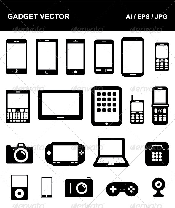 GraphicRiver Gadget Vector 4622039