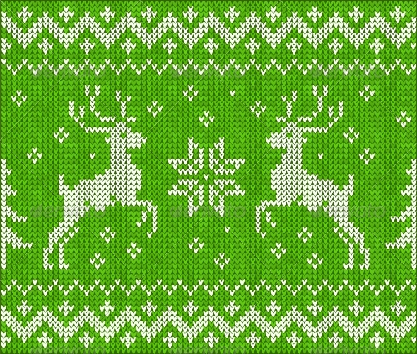 GraphicRiver Sweater with Deer 4622094
