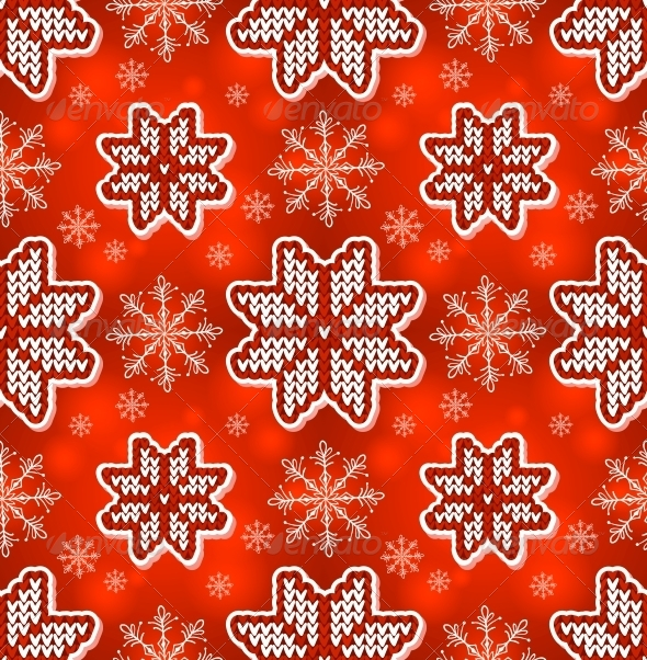 GraphicRiver Red Christmas Embroidery Seamless Pattern 4622212