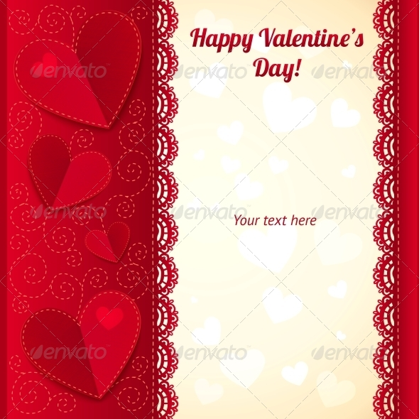 GraphicRiver Vector Valentine s Day Greeting Card with Hearts 4622270