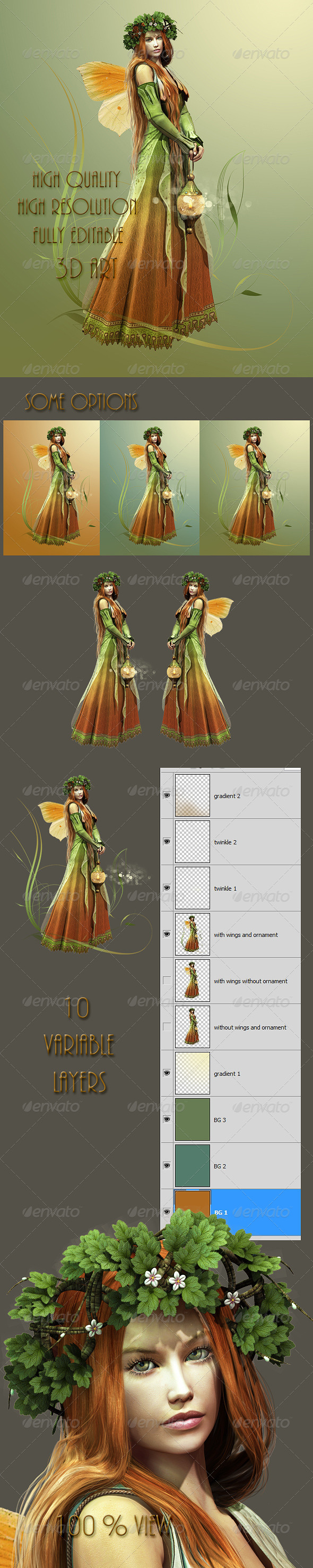 GraphicRiver Deep Forest Elf 4622278