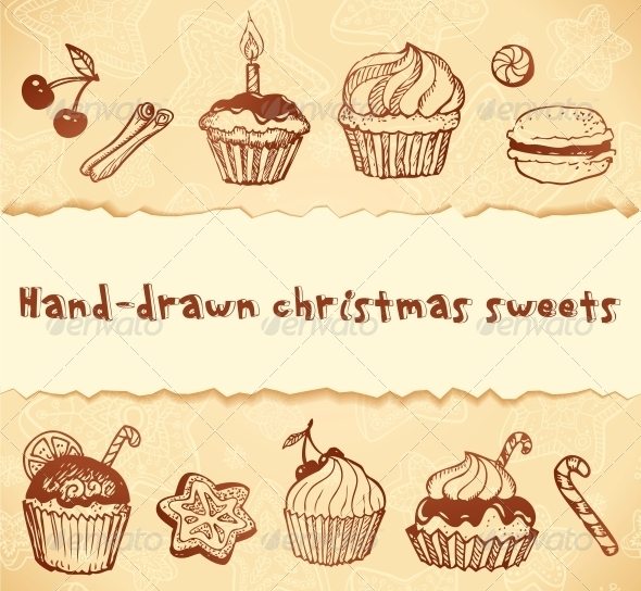 GraphicRiver Isolated Bakery Hand-Drawn Illustrations Set 4622473