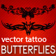 Butterfly Tattoo Symbols - GraphicRiver Item for Sale